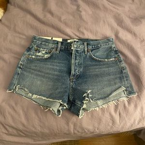 Agolde Parker cutoff denim shorts